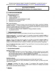 réglement intèrieur 2020-2021