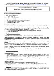 réglement intèrieur 2021-2022