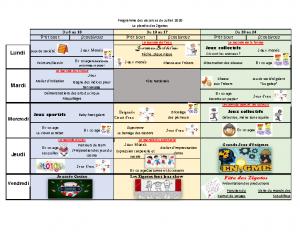 programme juillet 2020
